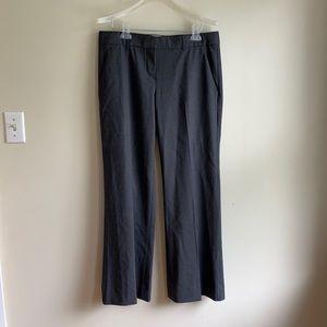 Theory grey wool wide leg pants trousers 12